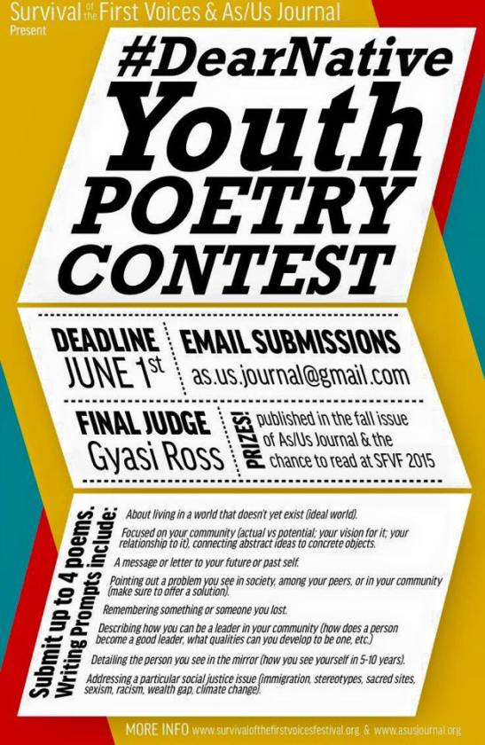dearnative youth poetry contest